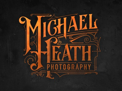 Michael Heath Photography lettering australia logo