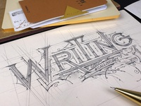 """Writing"" Lettering 