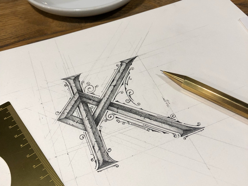 K | Sketch✏️ details handlettering ołówek pencil sketch lettering