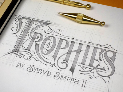 🇺🇸  Trophies ✏️ handlettering biernat logotype logo usa sketch szkic lettering california trophies