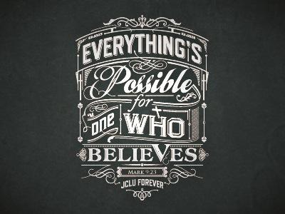Believe Final customtype typografia verses tshirt koszulka wersety koszulki biblijne design logo typography