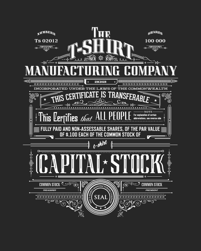 T shirt manufacturing