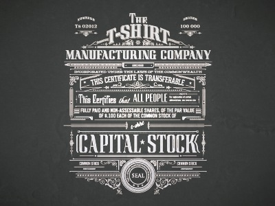 t-shirt manufacturing final manufacturing tshirt typography capital stock