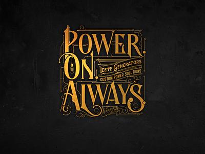 🇺🇸 | PowerOnAlways biernat logotype vector usa poweronalways california lettering logo