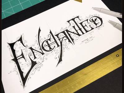 Inktober 2019 | Enchanted forfun lettering biernat inktober2019 inktober