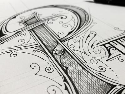 Inktober 2019 | Pattern victorian typography handlettering biernat ink lettering details inktober inktober2019