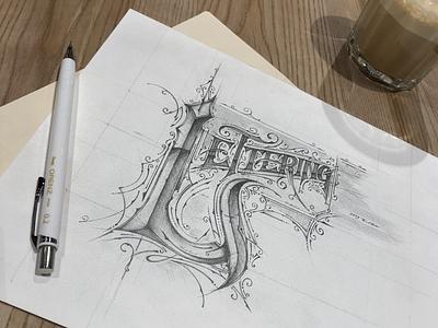 Lettering & Coffee | For fun pentelpolska pentel handlettering letters biernat design coffee lettering