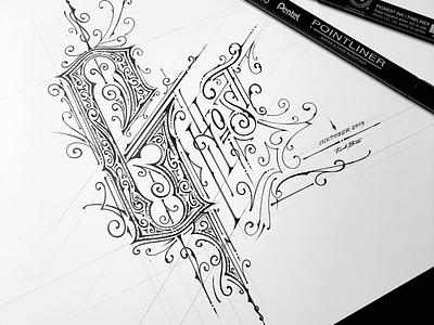 Inktober 2019 | Ghost victoriantype handlettering pentel ink lettering ghost inktober2019 inktober