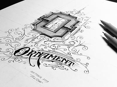 Inktober 2019 | Ornament details ink inktober2019 inktober handlettering lettering letteringvideo