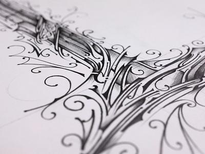 L - Lettering | step by step - Video illustration details biernat handlettering video pencil sketch typography lettering step by step