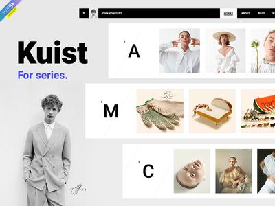 Kuist Portfolio Theme Elements Cover designers photographer gallery agency portfolio photography webdesign website wordpress web ux ui template theme design creative