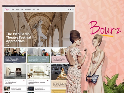 Magazine WordPress Theme - Bourz entertainment journal magazine editorial blogging blog webdesign website wordpress web ux ui template theme design creative