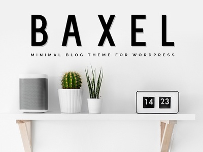 Baxel WordPress Theme Elements Cover ux webdesign themeforest wordpress template templates modern blog theme wordpress theme web theme wordpress blog handmade decoration creative fresh colorful personal minimal sweet