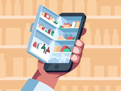 The Fridge smartphone delivery groceries app fridge