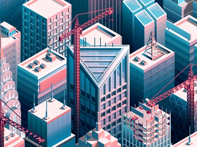 Variety Magazine - Pitched Battles isometric cities buildings york new skyscrapers city