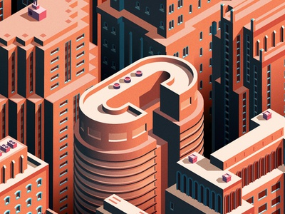 City Life buildings cities skyscrapers city isometric