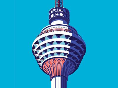 Kl Tower isometric sky tower observation kuala lumpur