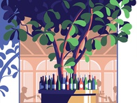 De Plantage restaurant wine bottle wine tree amsterdam cafe