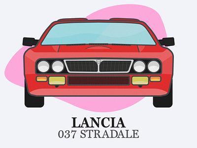Lancia 037 Stradale rally stradale 037 lancia vehicle illustration car auto