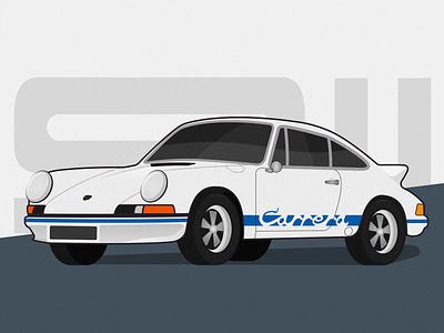 1972 Porsche Carrera RS 1972 rs 911 carrera porsche vehicle illustration car auto