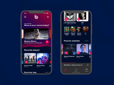Beat Saber Music App - 01   Daily UI