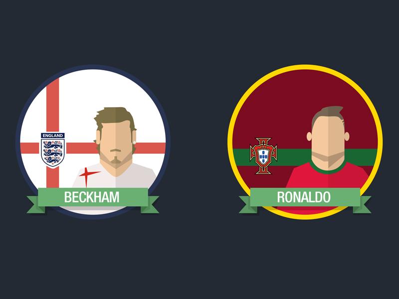 Football Players Badges by Ruben Filipe Semedo   Dribbble
