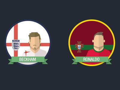 Football Players Badges