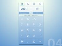Dailyui 004. Calculator