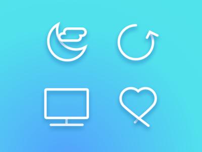 Dailyui 007. Settings screen 03 iconography iconography mobile dailyui app 007