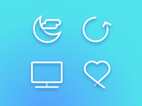 Dailyui 007. Settings screen 03 iconography
