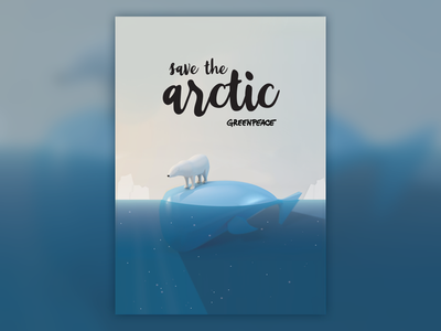 Save the arctic poster 3d cinema 4d graphic design save the arctic poster greenpeace