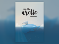 Save the arctic poster