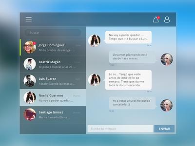 Dailyui 13. Direct Message Skin ui message direct desktop dailyui concept app 013