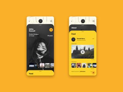 Profile screens for Filo App