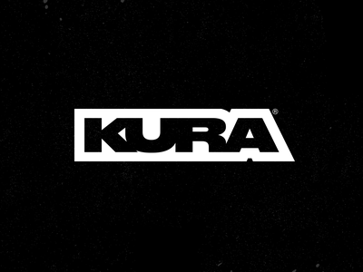 Kura - DJ technology music dj type premium clean hardcore black street logo typography identity branding