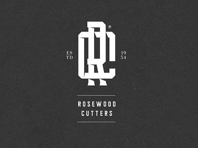 Nr. 36 - Rosewood Barbershop premium black typography branding logo identity barber logo monogram tattoo barbershop