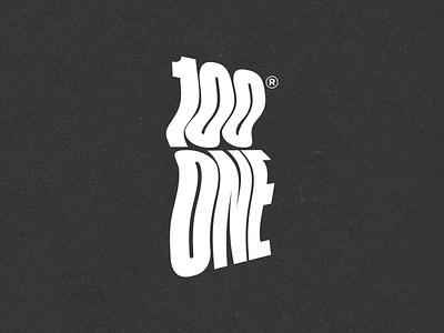 N.38 - 100 One Shop clean premium illustration hardcore street black typography identity branding logo design logo