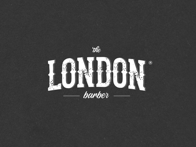 N.43 - The London Barber hardcore barbershop barber premium street black typography logo identity branding