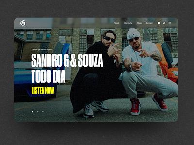 N.45 - Sandro G / Website music player site music hiphop ux hardcore ui typography logo branding