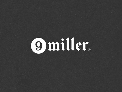 N.47 - 9 Miller music clean hardcore hiphop street black typography identity logo branding