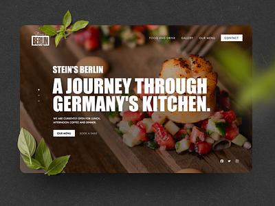 N.48 - Seins's Berlin / Website food clean minimal web app icon ux ui identity logo branding