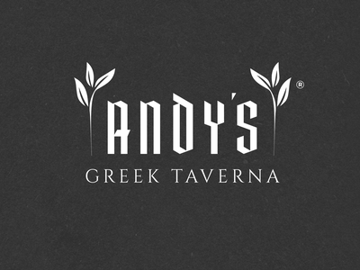 N.49 - Andy's Greek Taverna / Restaurant restaurant premium hardcore icon ui design black typography identity logo branding
