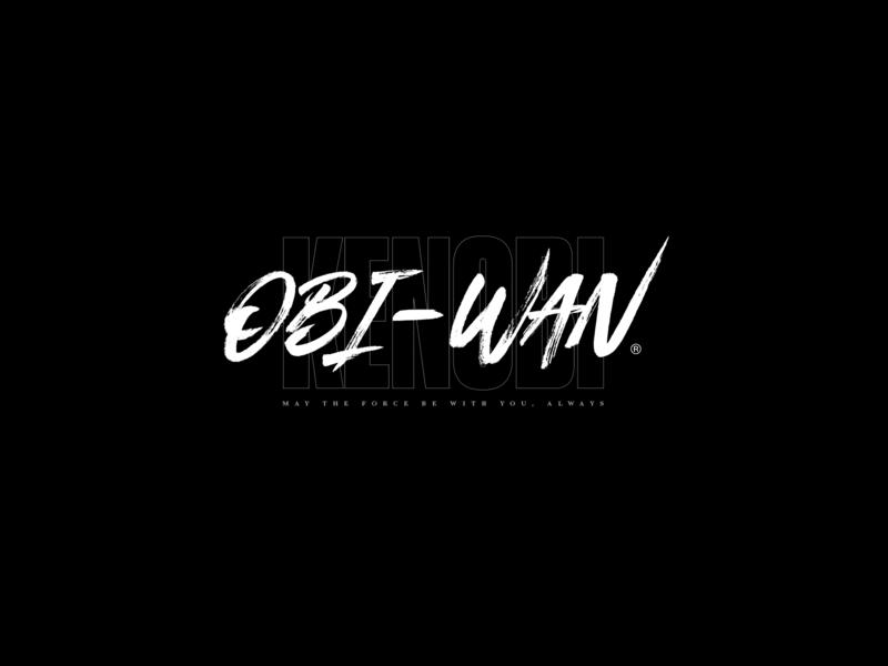Obi-Wan Kenobi Logo branding type extended flash tattoo street hardcore identity logo black akira starwars jedi