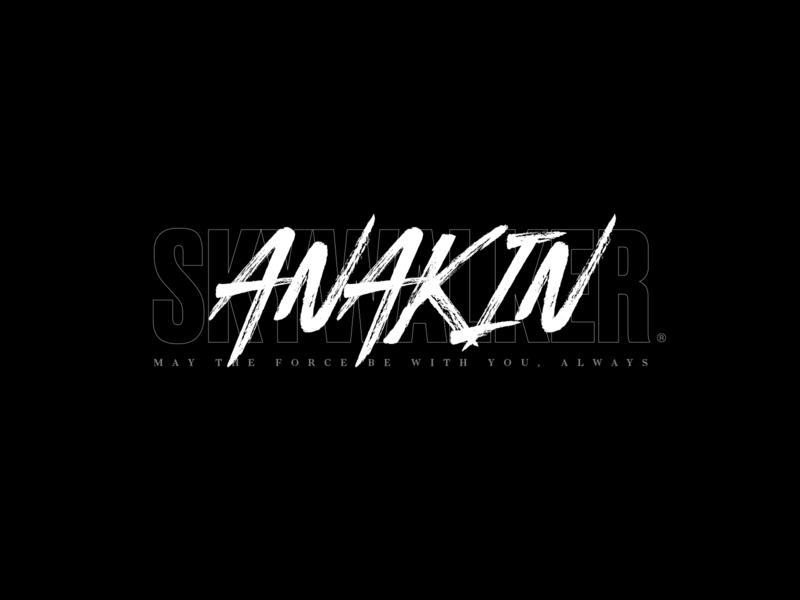 Anakin Skywalker typography street starwars logo jedi identity hardcore flash branding akira