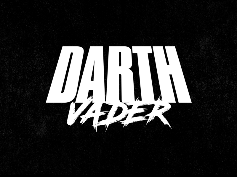 Darth Vader - Typography illustration brush lettering brush typography street starwars logo identity hardcore branding akira