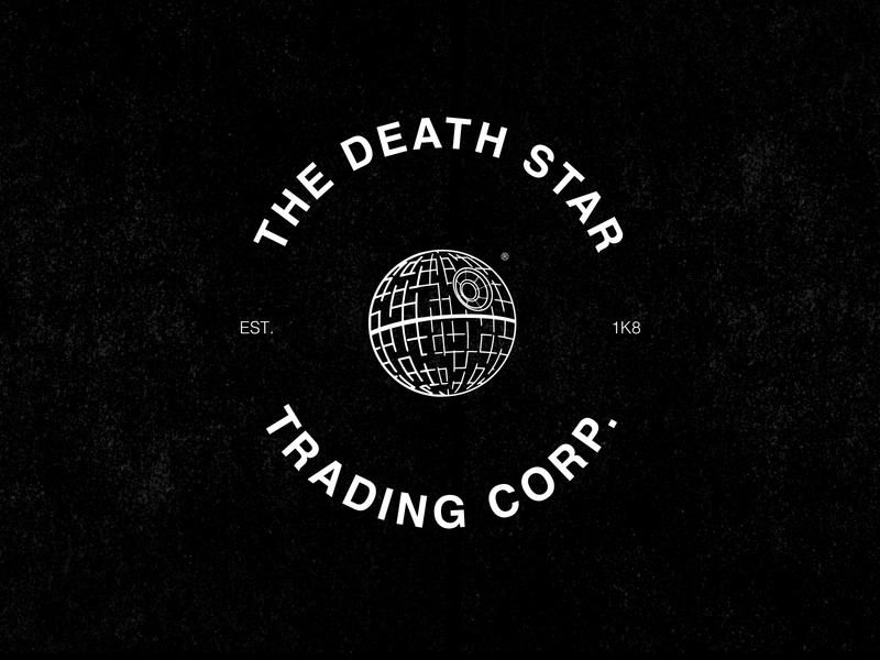 Death Star Logo helvetica type clean minimalist clothing typography street starwars logo identity hardcore branding