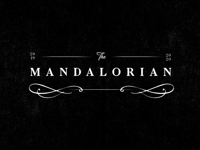 The Mandalorian Logo logotype premium jewelry sleek illustration black typography starwars logo identity branding