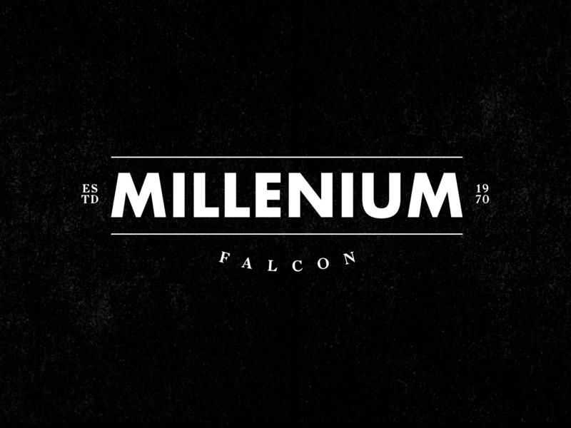 Millenium Falcon design premium logo clean jedi branding identity black street typography star logo starwars