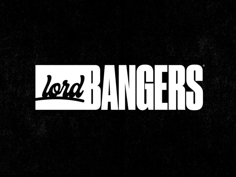 Lord Bangers - HipHop Logo font illustration street black hip hop premium hardcore rap music branding identity typography logo hiphop