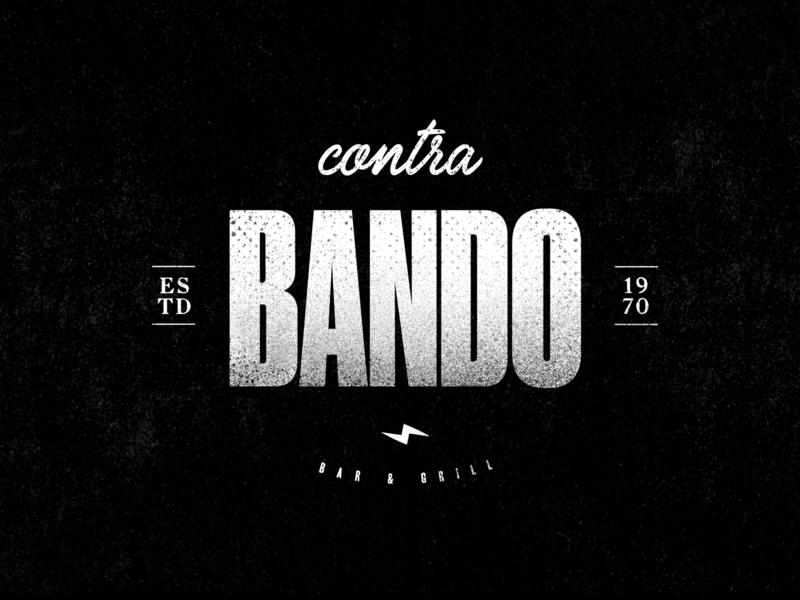 Contra Bando - Bar Logo bar restaurant vector type clean hardcore black street logo typography identity branding